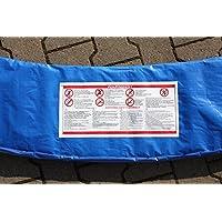 Premium Federabdeckung 360 - 366 für Trampolin Randabdeckung Randschutz Abdeckung PVC zweiseitig - UV beständig