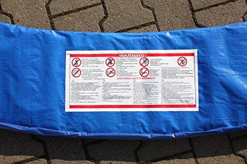 Premium Federabdeckung 396 – 400 cm 13 FT für Trampolin Randabdeckung Randschutz Abdeckung PVC zweiseitig – UV beständig blau - 4