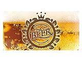 GRAZDesign 991058_110x57 Sichtschutzfolie Beer/Krone | Glasdekorfolie bedruckt | blickdichte Fensterfolie als Deko für Küchen-Fenster (110x57cm)