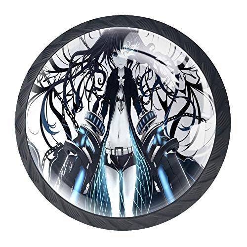 Zweidimensionales Teen Schubladenknöpfe Lupe Abbildung innen für Schrank Schrank Kommode Schrank neuen Stil Stoßgriff Packung mit 4 Stck (Knöpfe Kommode Für Teens)