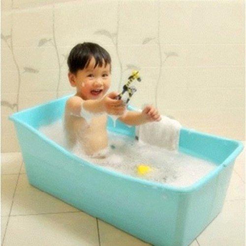 Baby Wanne Hohe (Baby kann gefaltet werden und in der Badewanne Baby-Kunststoff-Wanne Kinderwanne liegen ( Color : Blue ))
