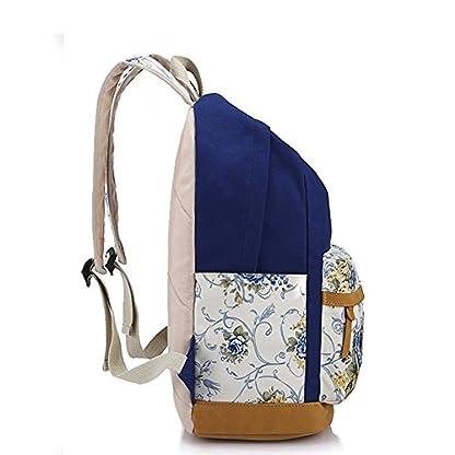 51x6AYd5G1L. SS416  - Moollyfox Las niñas Lona Mochila floral del Ordenador portátil bolso de escuela Mochilas para estudiantes Bolsa de viaje