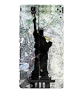 FUSON Statue Of Liberty Usa 3D Hard Polycarbonate Designer Back Case Cover for Sony Xperia T2 Ultra :: Sony Xperia T2 Ultra Dual SIM D5322 :: Sony Xperia T2 Ultra XM50h