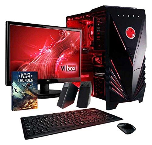 VIBOX Sharp Pack 2 PC Gamer - 3,9GHz APU Dual Core AMD A4, GPU GTX 1050, Avancée, Multimédia, Ordinateur PC de Bureau Gaming paquet de jeux, avec Écran, Éclairage Interne Rouge (3,7GHz (3,9GHz Turbo) Processeur APU/CPU Dual Core AMD A4-6300 Ultra Rapide, Carte Graphique Avancée Nvidia GeForce GTX 1050 2 Go, 16 Go Mémoire RAM DDR3 1600MHz Grande Vitesse, Disque Dur Sata III 7200rpm 1 To (1000 Go), PSU 400W 85+, Boîtier Gamer Vibox Commando Rouge LED, Pas de Système d'Exploitation Windows)
