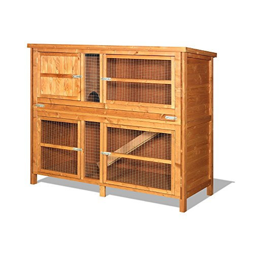 spacious-double-hutch-3-compartments-2-levels-with-access-ramp-included-treated-with-animal-safe-woo