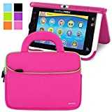 Evecase Vtech Innotab MAX Sleeve, Ultra Portable Handle Carrying Portfolio Neoprene Sleeve Case Bag for Vtech Innotab MAX 7'' Android Kids Learning Tablet - Hot Pink