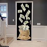 Gosunfly Aufkleber Papier_3D Kreative Tür Selbstklebende Papier Schlafzimmer Wohnzimmer Notizen Ebay