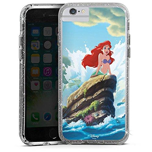 Apple iPhone X Bumper Hülle Bumper Case Glitzer Hülle Disney Arielle Die Meerjungfrau Geschenke Merchandise Bumper Case Glitzer silber
