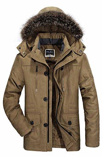 Männer Kleidung Baumwolle   Herren Mantel Winterjacke Plus Größe L-6 XL Winter Down Jacket Men Parkas 2017 warme Windschutz Dicke samt Lose Freizeitaktivitäten?Herren Mantel, Winter jacket, Khaki, 6XL Mens Winter Down Mantel