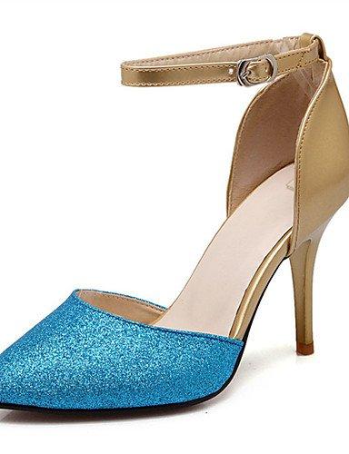 WSS 2016 Chaussures Femme-Mariage / Habillé / Décontracté / Soirée & Evénement-Bleu / Rouge / Argent / Or-Talon Aiguille-Talons-Talons-Paillette red-us5.5 / eu36 / uk3.5 / cn35