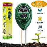 Suplong Soil PH Testing Kit 3 in 1 Plant Soil Tester Kit With
