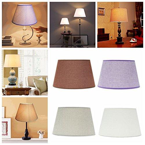 HANO 265x355x215MM Cotton strukturierter Stoff PVC Leinenschirm Schreibtisch Decken Lampshade -