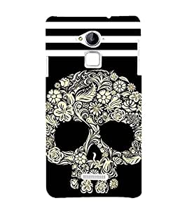 printtech Floral Ethnic Skull Abstract Back Case Cover for Coolpad Note 3 Lite