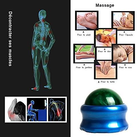 Roller Ball de Massage Reflex WEIANS Rouleau de Massage du dos Soulagement Relaxation Anti-Stress Yoga Aérobic Fitness Renforcement Musculaire (Vert foncé)