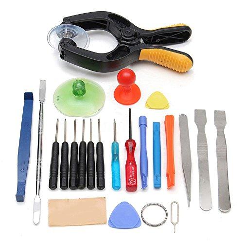 SODIAL 22In1 Telefon Lcd Bildschirm oeffnung Werkzeug Zange Saugnapf Pry Spudger Reparatur Kit Set