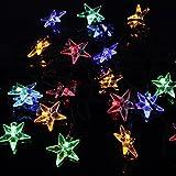 Solar Fairy Lights, Oxyled Solar Powered string Lights, 7meters 20LEDS multi colore a forma di stella, impermeabile all' aperto luci di Natale, per giardino, prato, giardino, recinto, Y20
