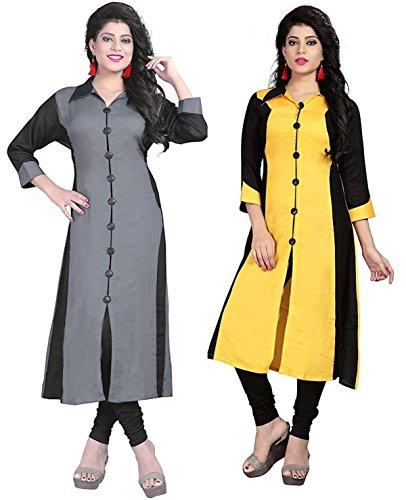Royalty Combo Kurti Pack Of 2 Cotton Fabric New Fancy Kurti Attractive...