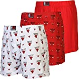 Chicago Bulls 3-Pack Banded Team Boxer S...