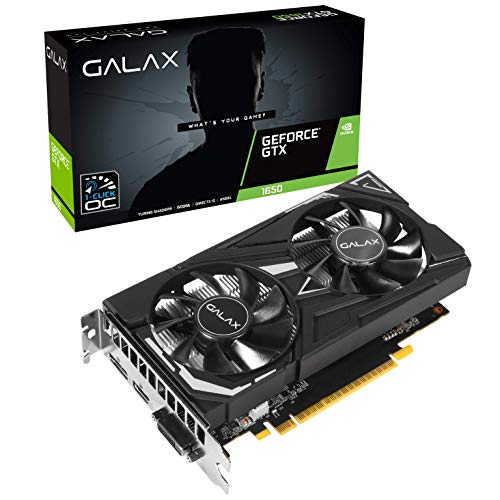 GALAX GeForce GTX 1650 EX 1-Click OC 4GB GDDR5 128-bit/DIRECTX 12 / ANSEL/PCI-E 3.0 Gaming Graphic Card