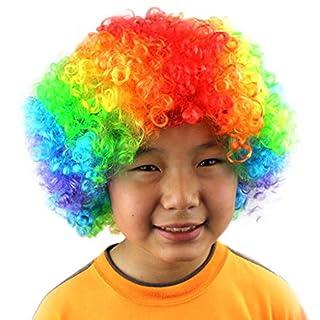 Perücke Herren Oyedens, Party Disco Lustige Afro Clown Haar Fußball Fan-Kinder Maskerade Perückeprop Karneval Kopfschmuck Explosion Kopf Verkleiden Sich Fan Perücke