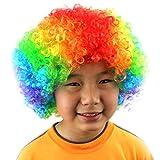 Moonuy Clown Rouge Multi-couleur Perruque de Clown pour Masquerade Deguisement...