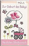 Glückwunschkarte Zur Geburt des Babys! Herzlichen Glückwunsch!