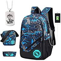 Fortnite School Backpack, Mochila para estudiantes College Bookbag Mochila de viaje Daypack Mochila informal con