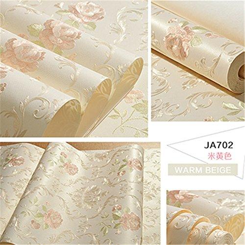 Preisvergleich Produktbild Xzzj Continental idyllische Prägung eco - Blumig,  ehe Wohnzimmer Schlafzimmer Vlies Tapete,  ja 702 m Gelb,  nur Wallpaper