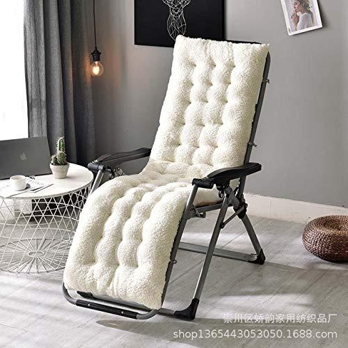 AINIYUE Cojín de Tumbona, cojín de salón o colchoneta reclinable de Tumbona de jardín, para Tumbona (sin sillas) 160x50x12cm Beige