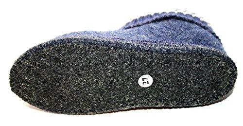 STEP 641054 0 72 Jungen Mädchen Hausschuh, Hüttenschuhe Blau