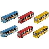 6pcs Paisaje Ferroviario Urbano Autobús Modelo Fundición a Presión ACC Bricolaje 17mm