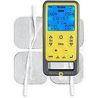 TensCare Sports 2, Dispositivo de Electroestimulación con Masaje, Amarilloy Gris