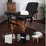 MASSUNDA Massunda All Inkl massagetafel inklapbaar en in hoogte verstelbaar - mobiele massagetafel van massief hout incl. bad