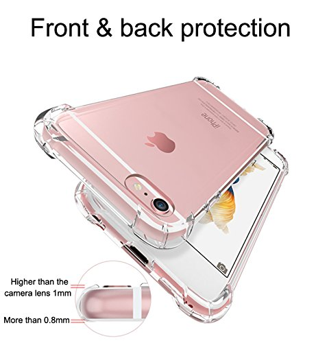 Sanchar's Defender for apple iphone 6 plus case Back Cover Shock Absorbing protective Transparent Black case cover + TPU bumper for apple iphone6 plus award wining military grade tech protection ShockShield + Aircushion Technology anti brust armor professional protection for apple iphone 6plus- Clear