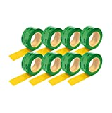 8rouleaux (60mmx25m) Ruban adhésif vert vapeur Frein pare-vapeur vapeur Film de blocage