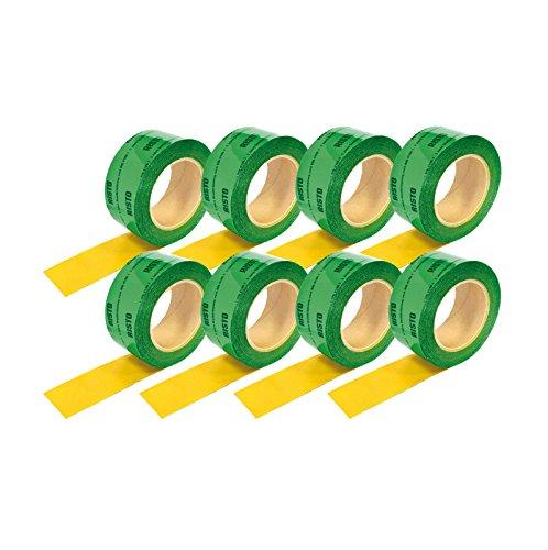 RISTO Dampfbremse Klebeband Grün einseitig selbstklebend, gitterverstärkt, 8 Rollen a 60mm x 25m