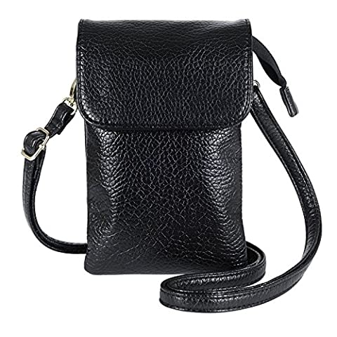 Women Cute Mini Crossbody Bag / Cellphone Purse / Shoulder Bag / Cellphone Pouch, WITERY Soft Leather 4 Bags Small Wallet Purse with Durable Shoulder Strap (profound