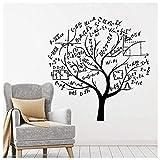 Wall Sticker Math arbre de Noël Decal PVC Vinyle Salon Chambre Maison Fenêtre Salle De Bains Bureau Dortoir Boutique Décor 74x74 cm