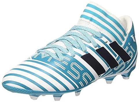 Adidas Nemeziz Messi 17.3 Fg J, Chaussures de Football Garçon, Multicolore (Ftwr White/Legend Ink F17/Energy Blue S17), 36 2/3 EU