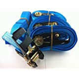 4x Ratschenspanngurt Spanngurt mit Ratsche 5 Meter EN Norm Farbe: blau , iapyx®