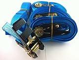 Iapyx - Lote de 4 correas tensoras con mecanismo de trinquete (5 m, normativa EN)
