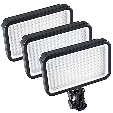 PIXAPRO® LED170 Three Units Daylight Dimmable On Camera LED Lighting Video Interview YouTube VLOG *2 Year UK Warranty *Fast Delivery *UK Stock *VAT Registered … (Three Units,