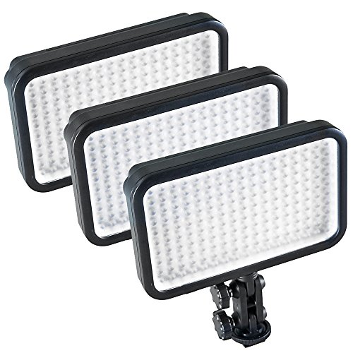 PIXAPRO® LED170 Three Units Daylight Dimmable On Camera LED Lighting Video Interview YouTube VLOG *2 Year UK Warranty *Fast Delivery *UK Stock *VAT Registered … (Three Units, Standard) Online