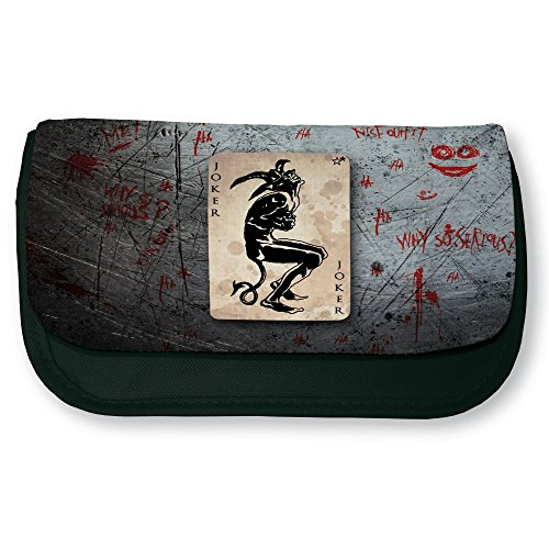 Trousse noire de maquillage ou d'école Carte Joker Dark destroy - Fabriqué en France - Chamalow shop