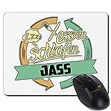 getshirts - RAHMENLOS® Geschenke - Mousepad - Sport Jass - weiss uni
