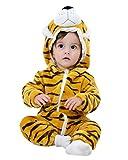 Kidsform Bébé Combinaison Unisexe Grenouillères Animal Pyjama Dors Bien Déguisement Costume Cartoon Mignonne Barboteuse tigre B 1-2Y
