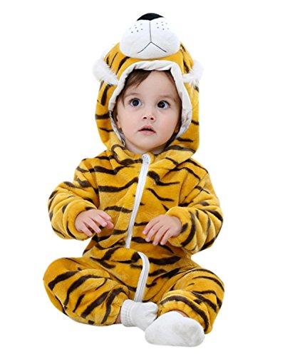 l Winter Strampler Outfits Bekleidung Karikatur Tier Jumpsuit Spielanzug Spielzug Playsuit Tiger 18-24M (Tiger Kostüm Für Babys)