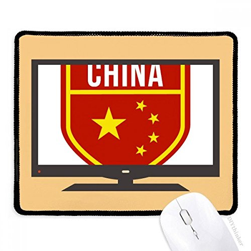 beatChong Made in China Schild Nationalflagge Computer Mouse Pad Anti-Rutsch-Gummi Mousepad Spiel Büro