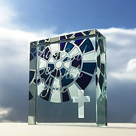 Spaceform Token Cross Stained Glass, May God Be With You 2106
