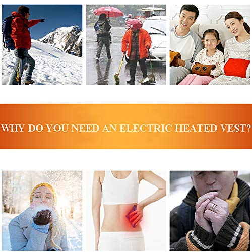 51x6QPAtyOL. SS500  - DZX Winter Heating Vest/Warm Clothing Electric Jacket,USB Heating-For Camping, Hiking, Skiing And Ice Skating,S